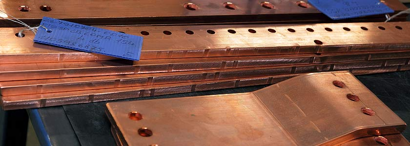 Machining aluminum and copper bars